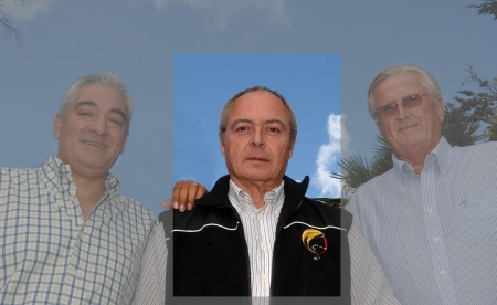 On the picture, left to right - Paul McCallum  Balloon Meister, Serge Cuhat, Sten Adeler